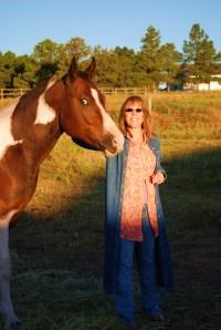 Lynn on the farm